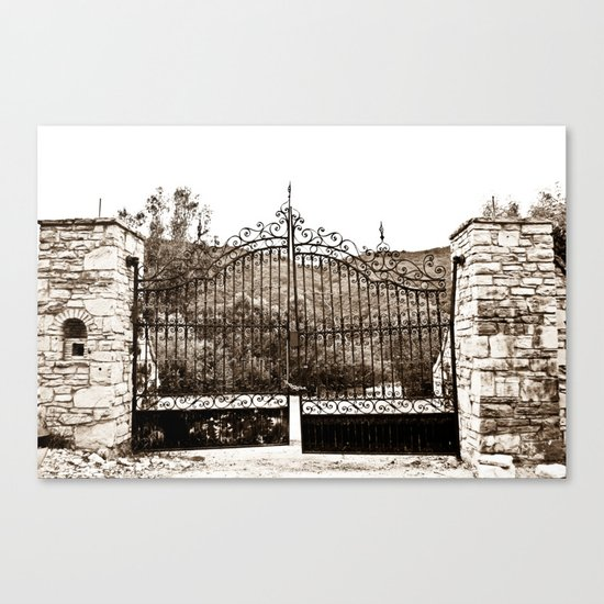 Old Gates Canvas Print
