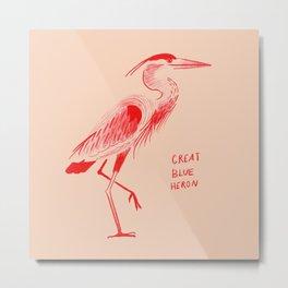 Great Blue(Red) Heron Metal Print
