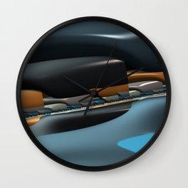 Streamliner no. 1 Wall Clock