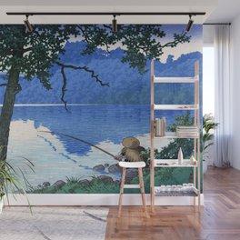 Lake Matsubara on a Morning, Shinshu by Hasui Kawase Wall Mural