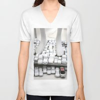 grand theft auto V-neck T-shirts featuring auto by gaus