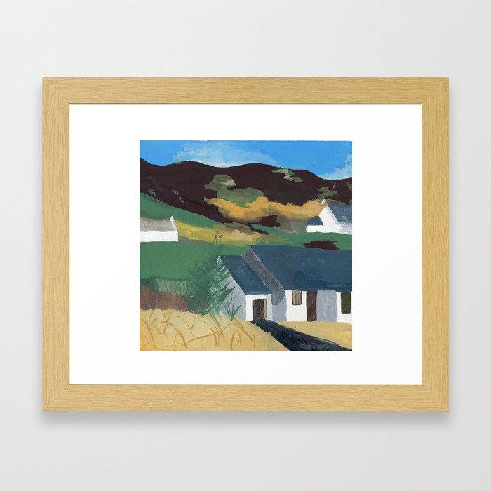 Country Houses Framed Art Print