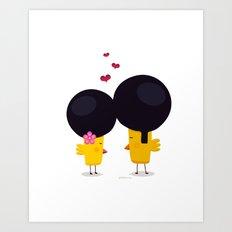 Afro Love Art Print