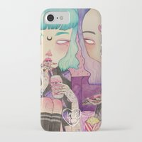 loll3 iPhone & iPod Cases featuring Pizza Party by lOll3