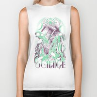 science Biker Tanks featuring Science by Fuacka