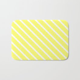 Custard Diagonal Stripes Bath Mat