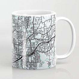 Stamford, CT, USA, City Map Coffee Mug