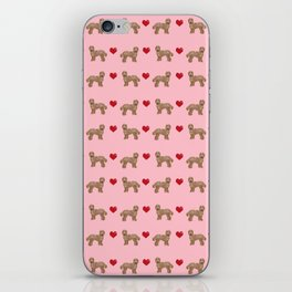 Labradoodle valentines day hearts dog breed pet pattern labradoodles iPhone Skin