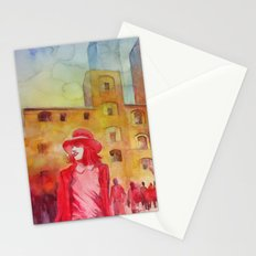 Chapeau rouge Stationery Cards