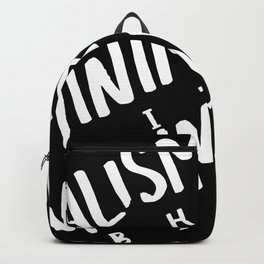 Minimalism BITCH Backpack