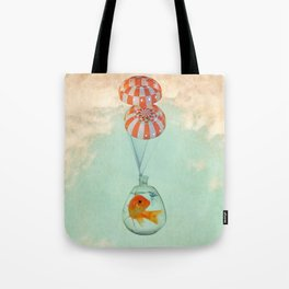 parachute goldfish Tote Bag