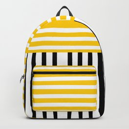 Yellow and black stripes Backpack