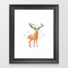 Deer and Diamonds Framed Art Print