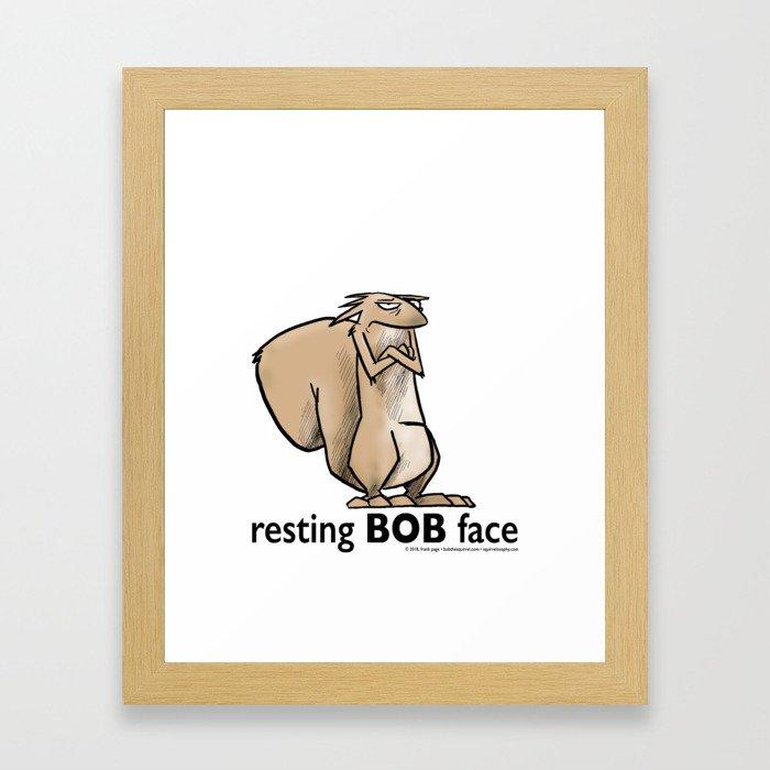 Resting Bob Face Framed Art Print