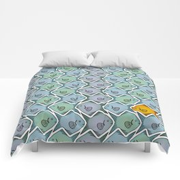 Looking for the gold fish Comforters