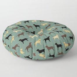 Labrador Retriever Dog Silhouettes Pattern Floor Pillow