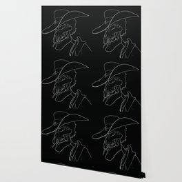 cowboy skull black Wallpaper