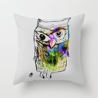 alone Throw Pillows featuring Alone by Organic Mind