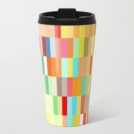 colorful rectangle grid Travel Mug