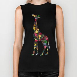 Animal Mosaic - The Giraffe Biker Tank