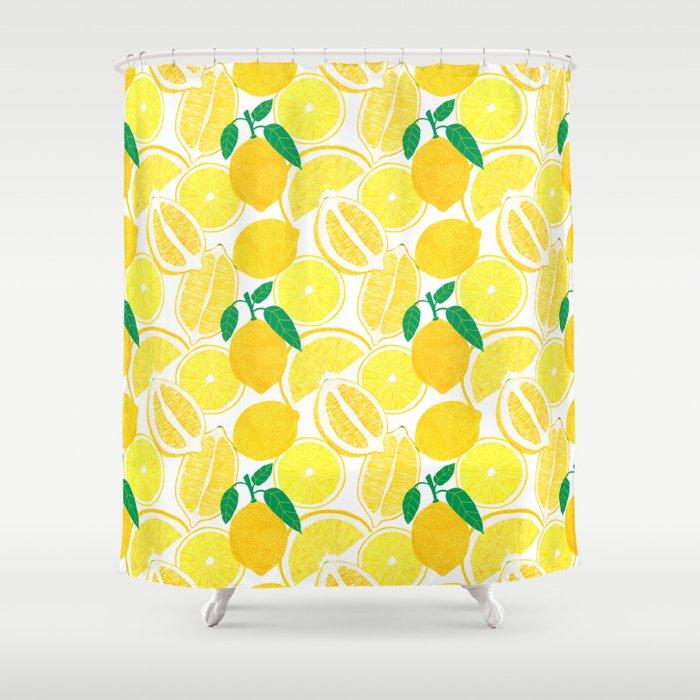 Lemon Harvest Shower Curtain