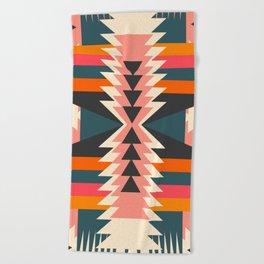 Colorful ethnic decoration Beach Towel