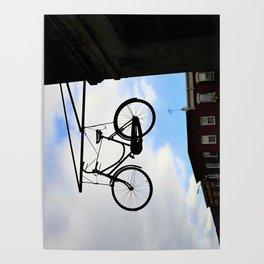 Suspended Bike Poster