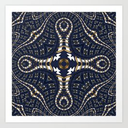 Liquid Denim Blue Art Print