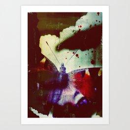 Fear of Butterflies Art Print