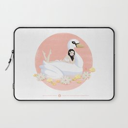 Summer Pool Party - White Swan Float D Laptop Sleeve