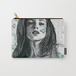 Nothing Violates This Nature: Teal (nude butterfly girl, erotic portrait) Carry-All Pouch