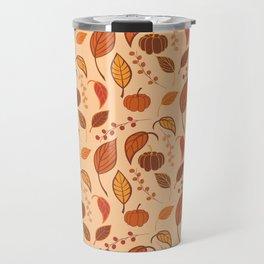 Leaves and pumpkins Travel Mug