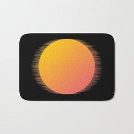 Orange Moon Black Sky Bath Mat