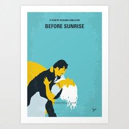 No1011 My Before Sunrise minimal movie poster Art Print