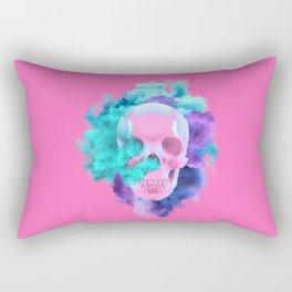 Colored Smoking Skull Rectangular Pillow