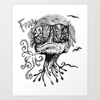 fear and loathing Art Prints featuring Fear & Loathing by Saravo Studio