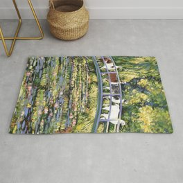 Llama and The Water Lily Pond Rug