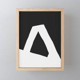 """""""A"""" Statement Framed Mini Art Print"""