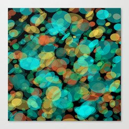 Colorful Pebbles on the Beach Canvas Print