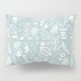 Very Leafy In Blue Pillow Sham