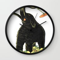 drums Wall Clocks featuring Mammoth Drums! by splendidhand