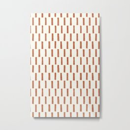 block print dash - terra cotta Metal Print