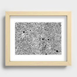Cell Pattern Recessed Framed Print
