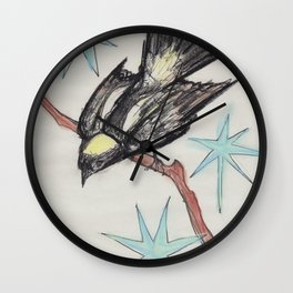 Bobolink In Space Wall Clock