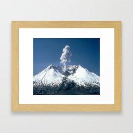 Mount St. Helens 🌋 Volcano  Framed Art Print