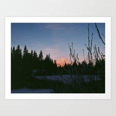 Mirror Lake Sunset (Mt. Hood) Art Print