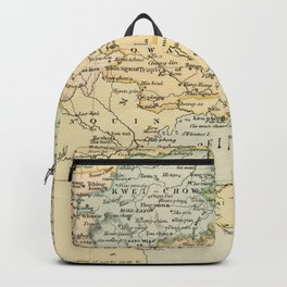 Vintage Map of The South Of China Backpack