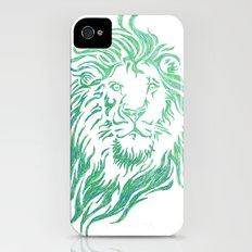 Green Lion iPhone (4, 4s) Slim Case