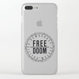 FreeDoom-1 Clear iPhone Case