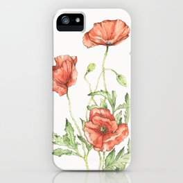 Fragile Beauty - Watercolor Poppies iPhone Case